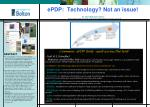 ePDP:  Technology? Not an issue!