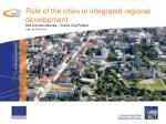 Role of the cities in integrated regional development