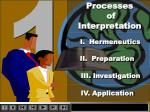 Processes of Interpretation
