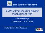 ESPA Comprehensive Aquifer Management Plan