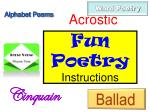 Fun Poetry Instructions