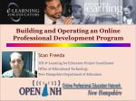 Building and Operating an Online Professional Development Program