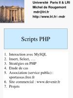 Scripts PHP