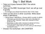 Day 1: Bell Work