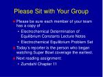 Please Sit with Your Group