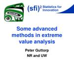 Some advanced methods in extreme value analysis