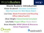 Waste Busters: Introduction
