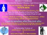 PROJECT VISHRAM Support Services for Senior Citizens, Care-Givers & others