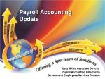 Payroll Accounting Update