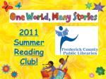2011 Summer Reading Club!