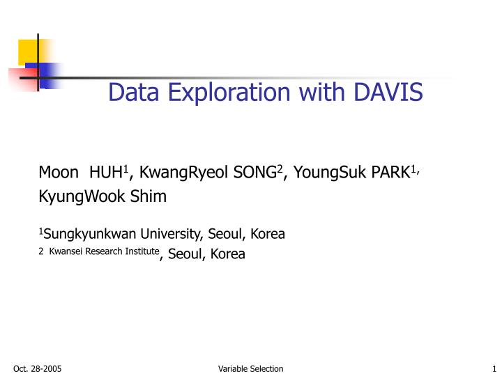 data exploration with davis n.