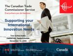 Supporting your International Innovation Needs