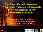 Fire-Smart Forest Management: