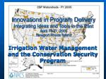 Irrigation Water Management and the Conservation Security Program