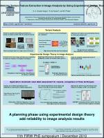 Optimizing Texture Feature Extraction in Image Analysis by Using Experimental Design Theory