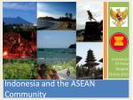 Indonesia and the ASEAN Community