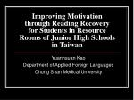 Yuanhsuan Kao Department of Applied Foreign Languages Chung Shan Medical University