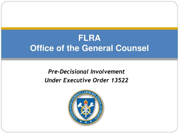 flra office of the general counsel n.