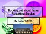 Rocking out about Fame Recording Studios