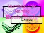 Mummies in the Morning Book Study