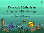 Research Methods in Cognitive Psychology