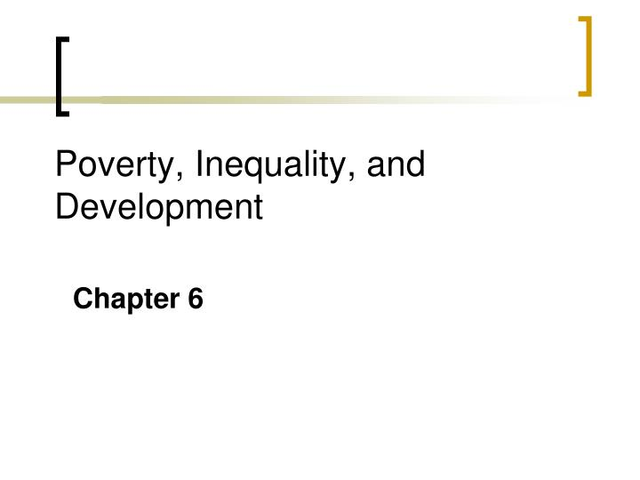 poverty inequality and development n.