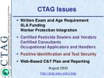 CTAG Issues