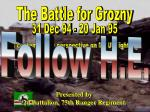 The Battle for Grozny