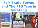 Fair Trade Towns and The FIG Tree in  Garstang