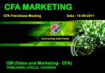 CFA MARKETING