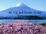 Mt. Fuji and Onsen 10-day Getaway