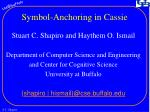 Symbol-Anchoring in Cassie