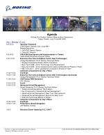 Agenda Boeing Civil Aviation System Modernization Symposium Taipei, Taiwan, July 27 and 28, 2009