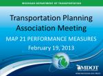 Transportation Planning Association Meeting