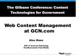 The Gilbane Conference: Content Technologies for Government