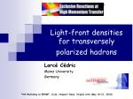 Light-front densities for transversely polarized hadrons