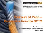 Delivery at Pace – Perspective from the GCTO