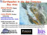 Earthquakes in the San Francisco Bay Area