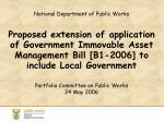 Portfolio Committee on Public Works 24  May 2006
