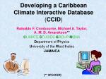 Developing a Caribbean Climate Interactive Database ( CCID )
