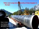 TSOs and Long-term Security of Gas Supply in Europe