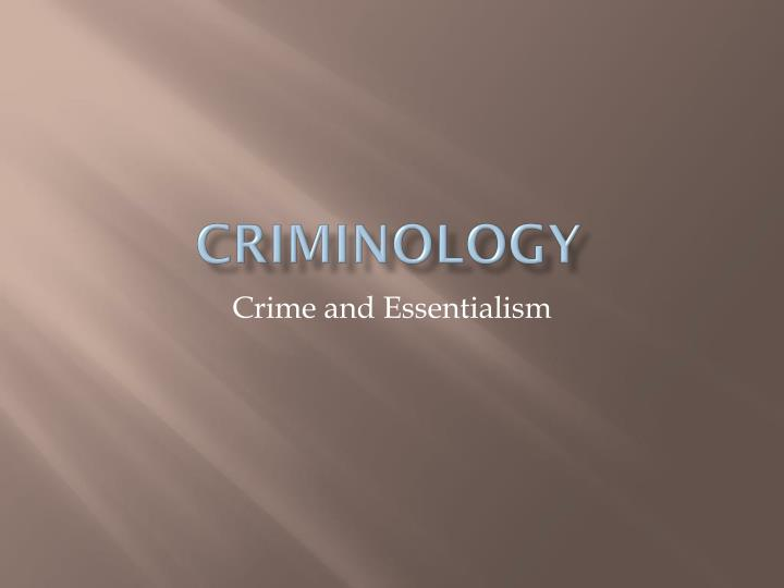 criminology n.