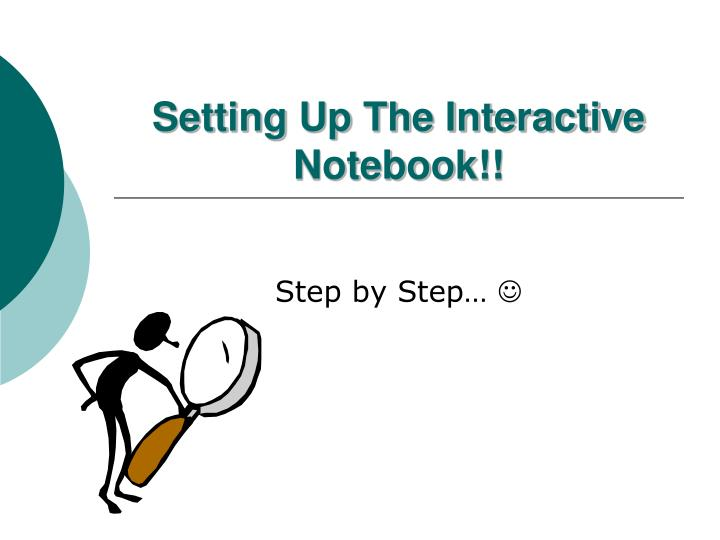setting up the interactive notebook n.