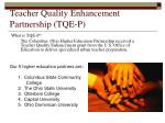 Teacher Quality Enhancement Partnership (TQE-P)
