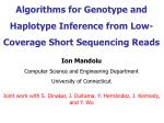 Algorithms for Genotype and Haplotype Inference from Low-Coverage Short Sequencing Reads