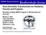 How ePortfolio Transformed our Students, Faculty and Program
