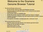 Welcome to the Gramene  Genome Browser Tutorial