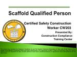 Certified Safety Construction  Worker CW203
