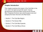 Chapter 25: The Cold War  1945–1960