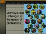 Microevolution - Changes in the genes of populations